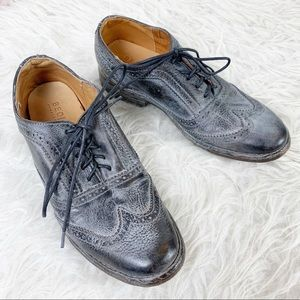 BED STU Distressed Leather Oxford Lace Up Boho 6